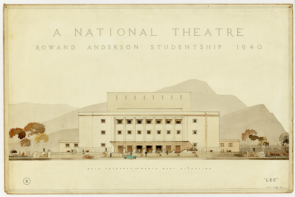 architectural drawing of a theatre design