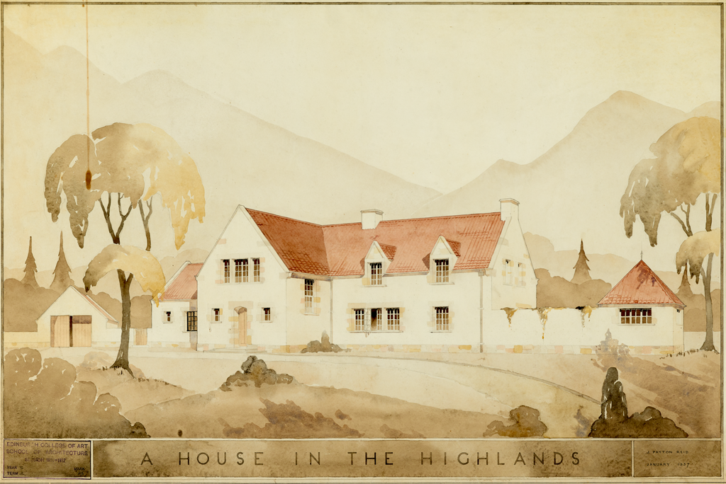 design for a house in the highlands