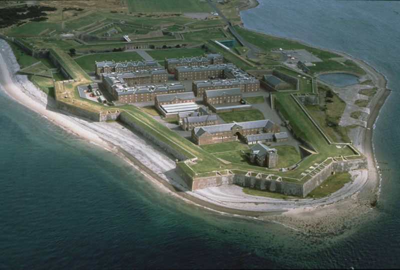 Image containing an aerial view of Fort George