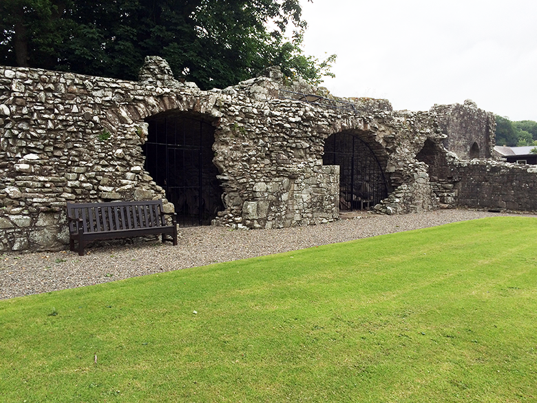 View of Dundrennan Abbey cloisters