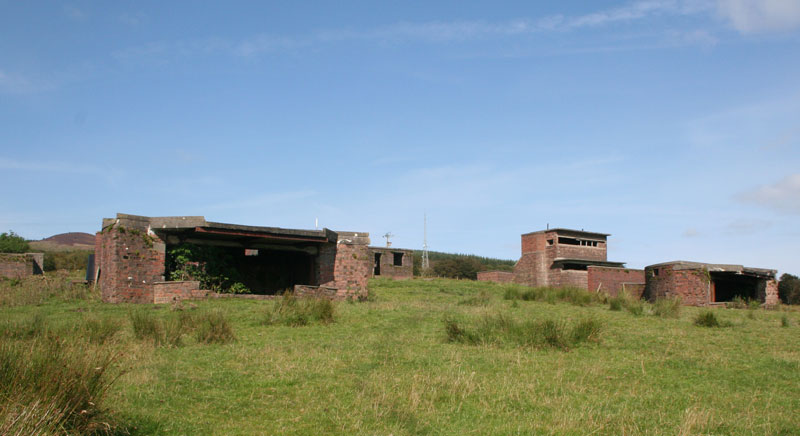 Image of remains of a naval defence battery on the Clyde estuary