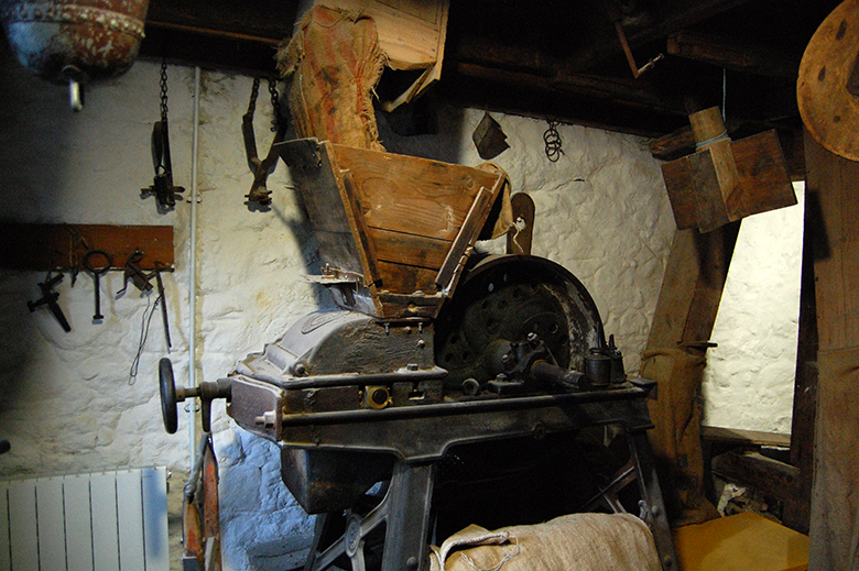 "Photo showing the ""Oat Bruiser"" machinery at New Abbey Corn Mill"