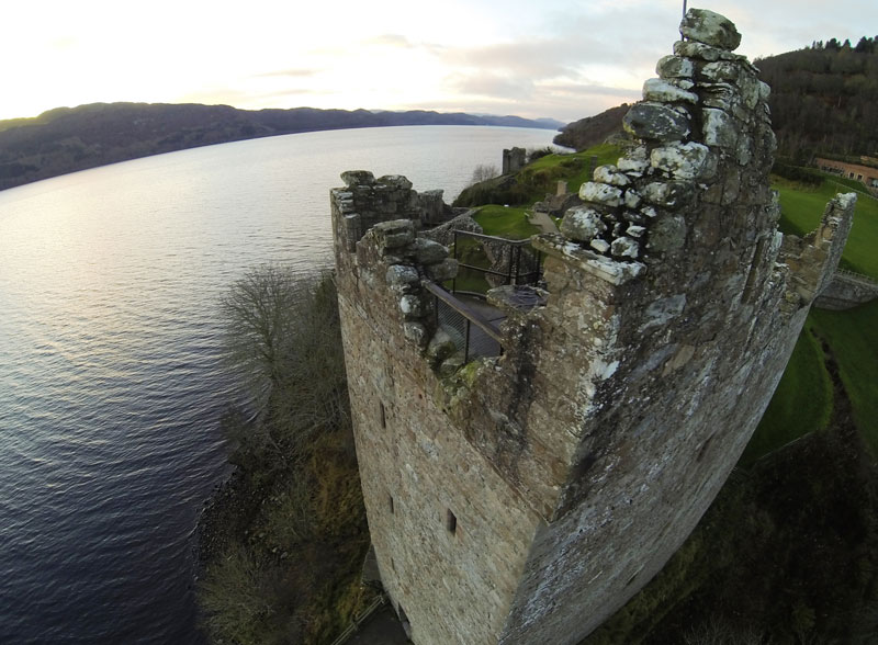 Aerial image of Urquhart Castle