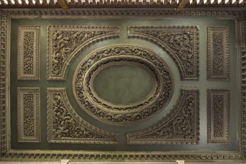 ceiling with ornate plaster