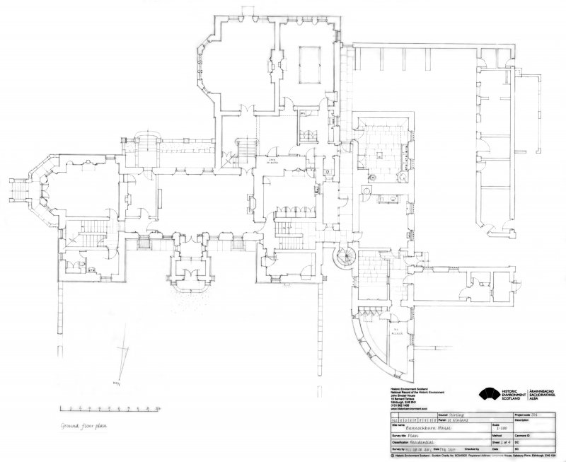 black and white drawing showing floor plan of building