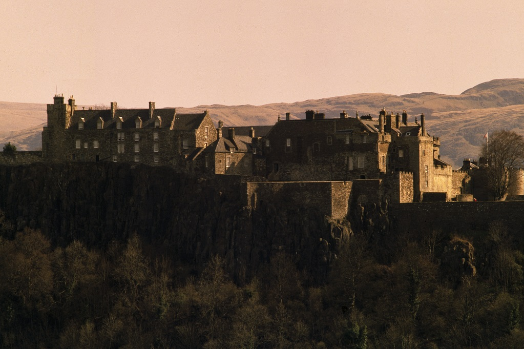 View of Stirling Castle in a sunset