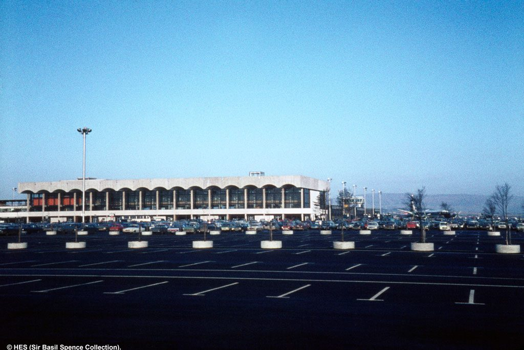 View of original Glasgow airport terminal building from 1960s