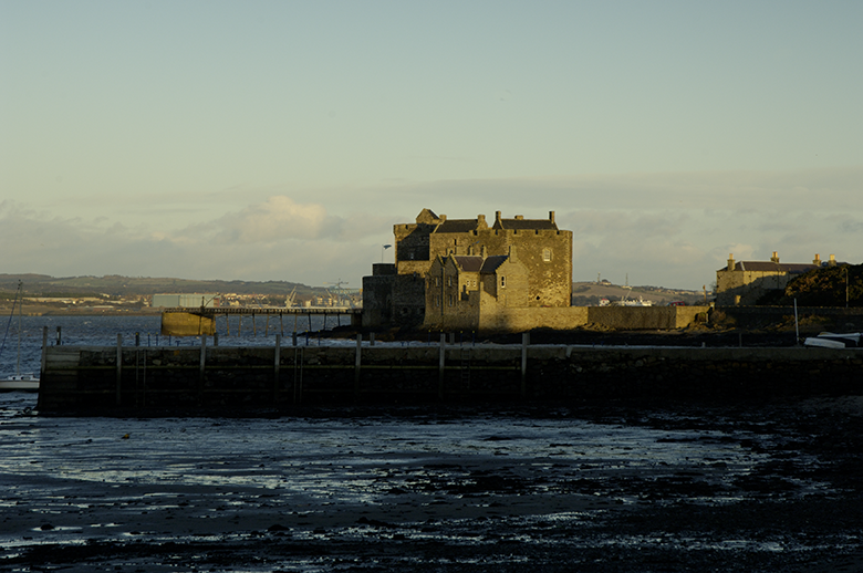 Blackness Castle on a bleak day