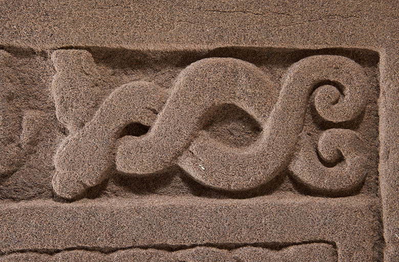 carving from St Vigeans showing a Pictish sea creature
