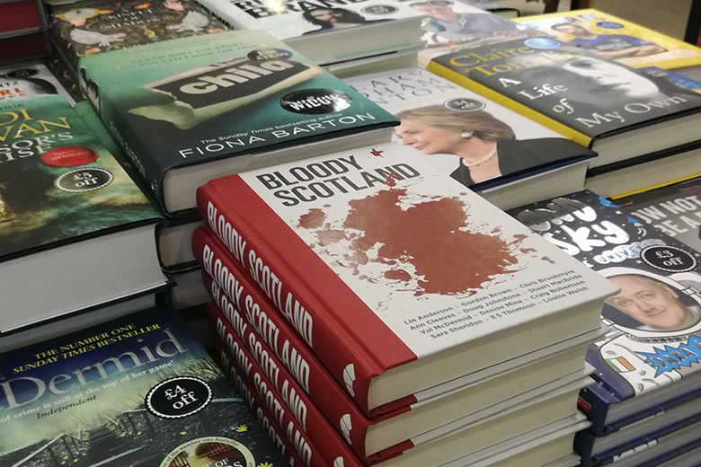 'Bloody Scotland' books on sale in store