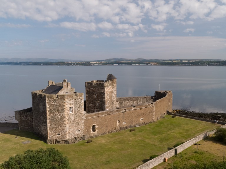 A general view of Blackness Castle