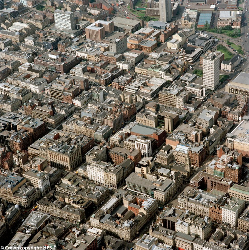 A bird's eye view of the city of Glasgow
