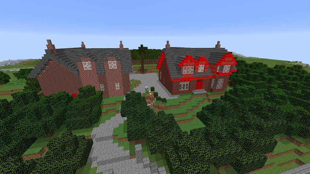 A minecraft reconstruction of Abbot House in Dunfermline