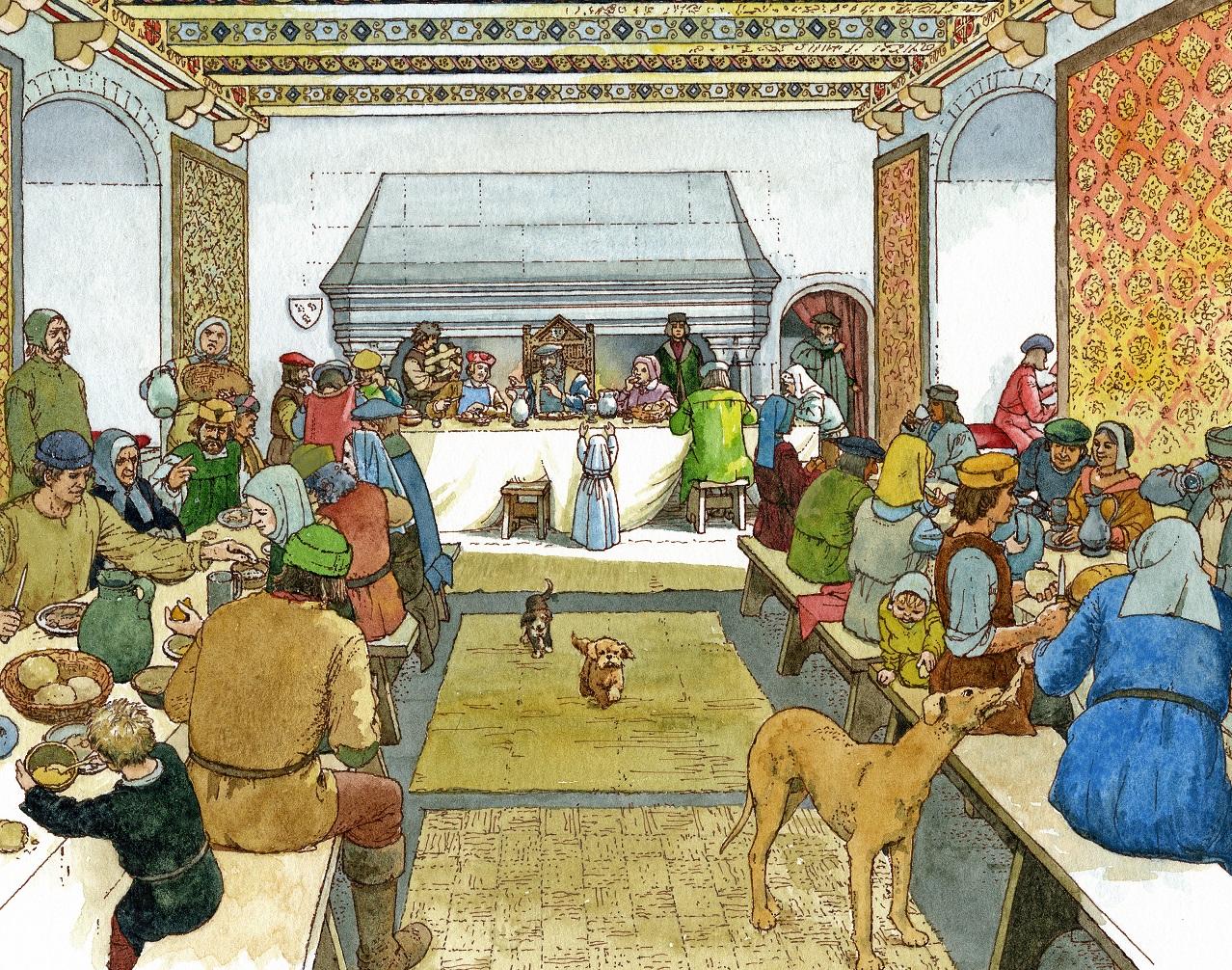 An artist's impression of a 16th century feast in Craigmillar Castle