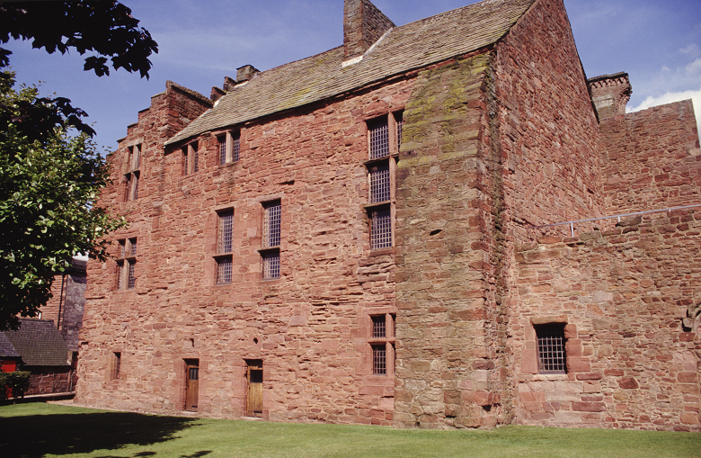 View of The Abbot's house at Arbroath Abbey
