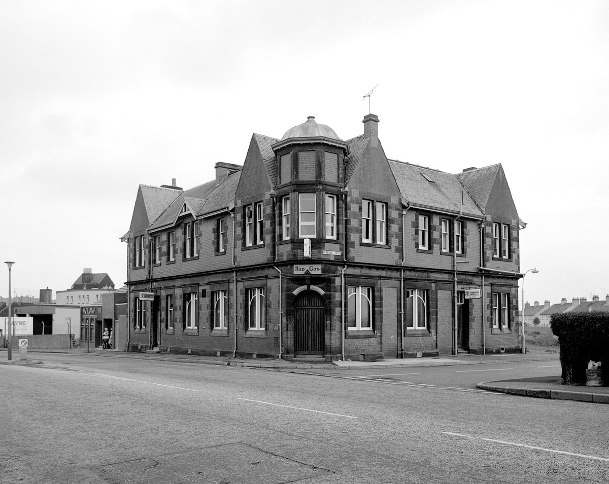 A large pub sits on the corner of a street in a Fife mining village