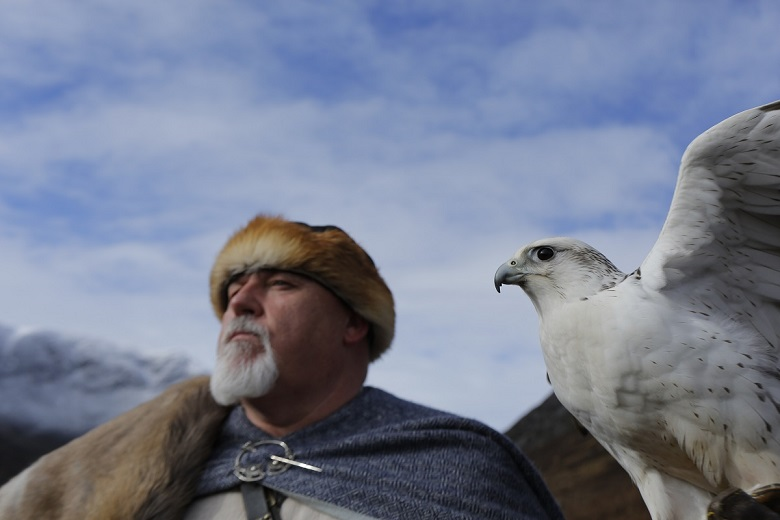A still of Johnny McGuiness playing King Sigurd in CBeebies show 'Gudrun the Viking Princess'