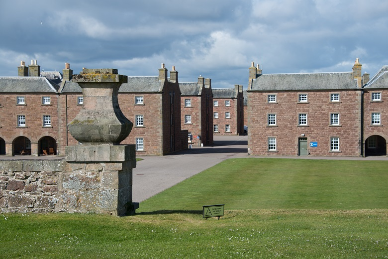 Redbrick barrack buildings at Fort George
