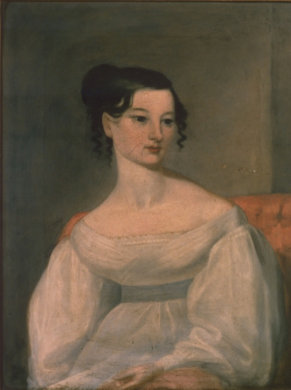 Portrait of Lydia Miller wearing a white dress