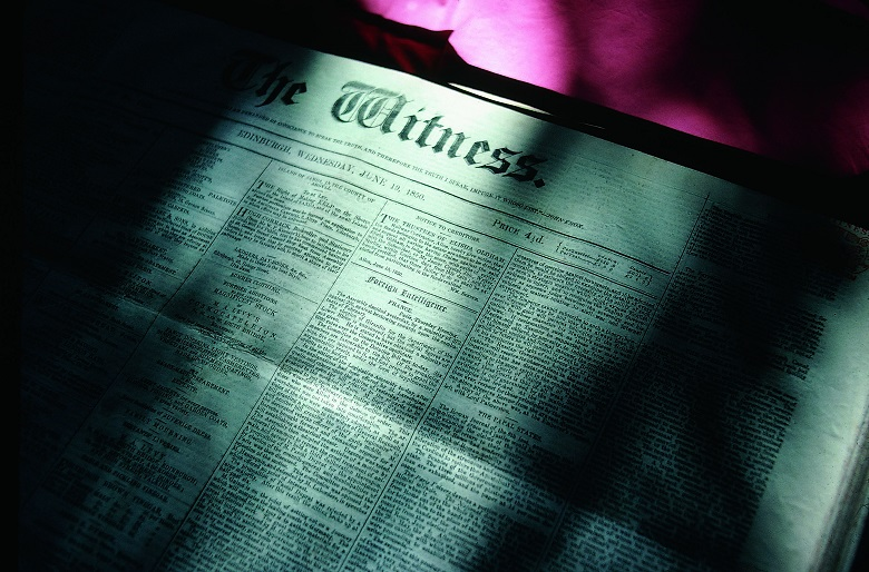 A copy of The Witness newspaper