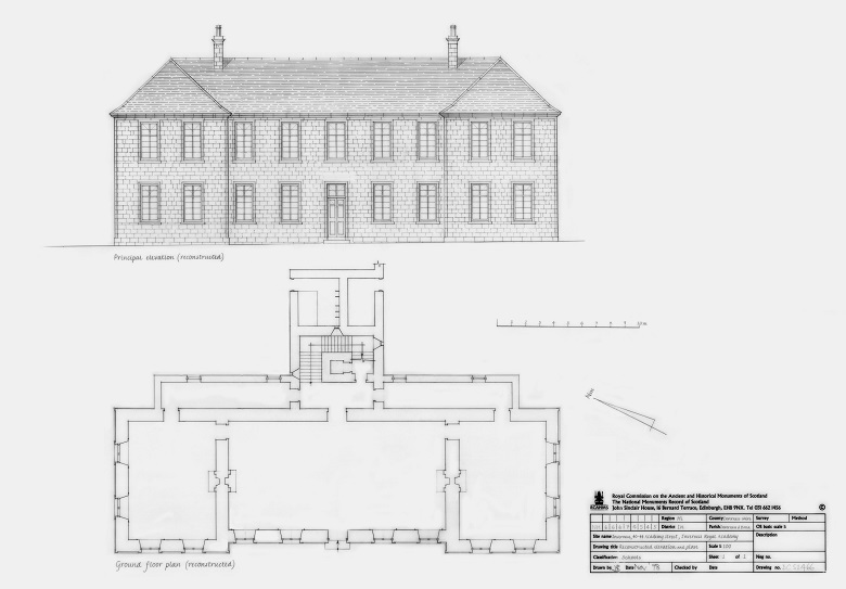 Archived architectural plans for the ground floor of an academy building