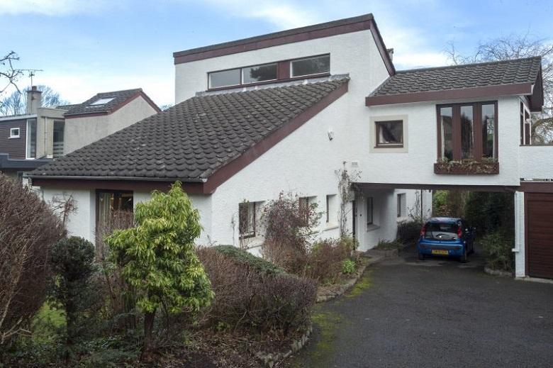 Exterior of a house in Edinburgh designed around rectangular geometry
