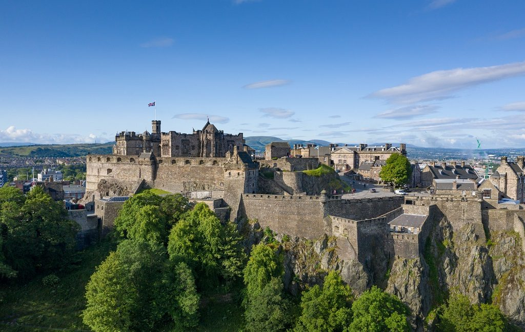 Photo of Edinburgh Castle taken by drone
