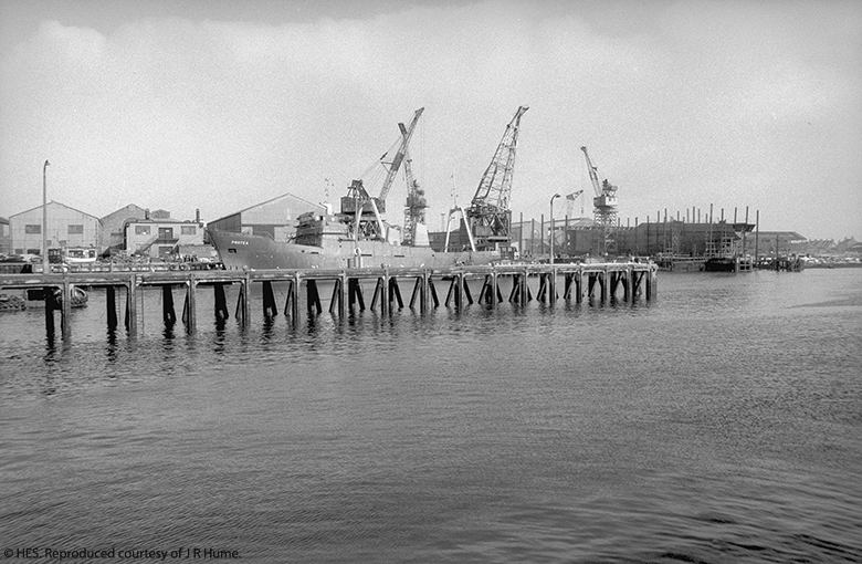 view of docks and cranes