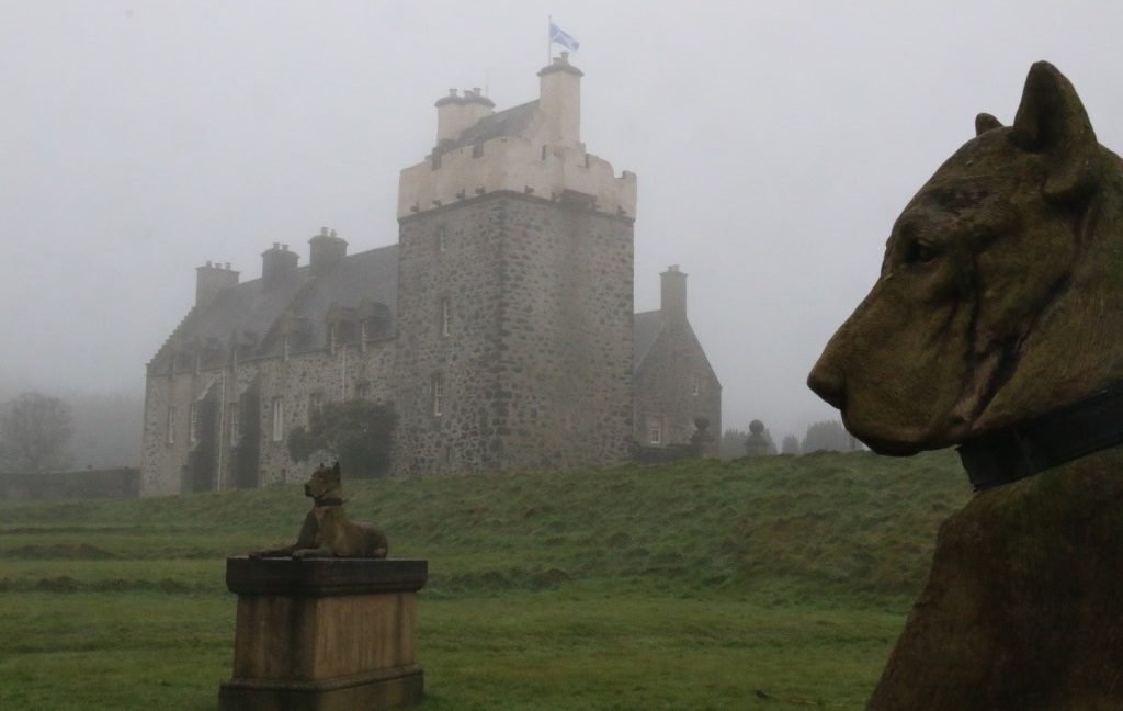 A castle shrouded in mist