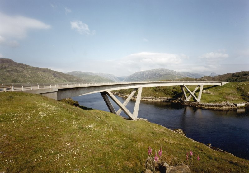 A curved concrete bridge in the Scottish highlands, awarded recognition by the HES designations team