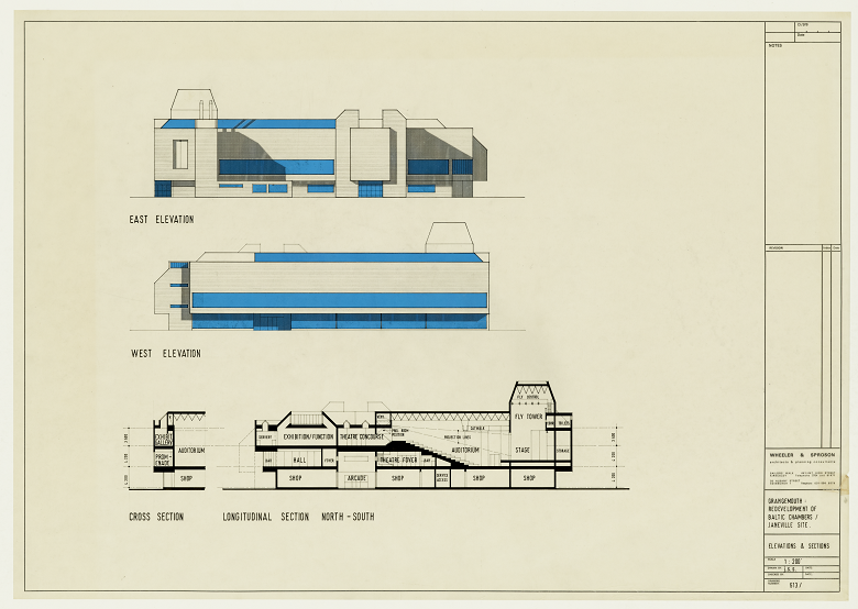 Archive copy of a design for a theatre