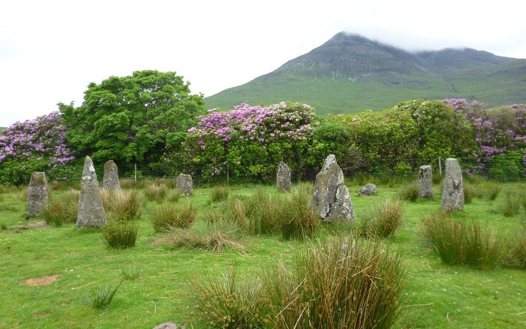 A stone circle in the Highlands of Scotland