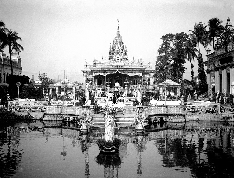 An archive photo of a lavish Indian temple