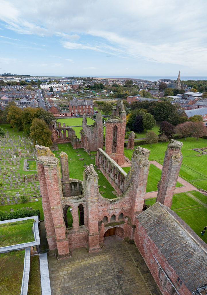 Aerial view of Arbroath Abbey