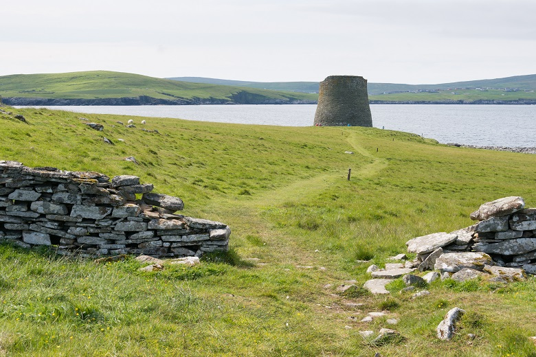 Mousa Broch in its remote island location