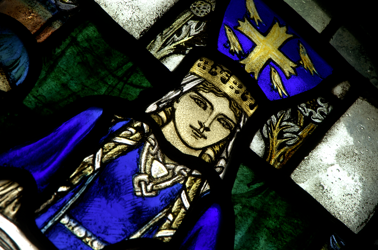 St Margaret depicted in stained glass