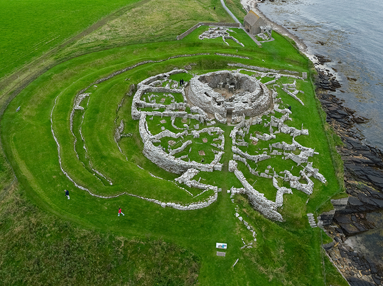 UAV photography of the Broch of Gurness, mainland Orkney.