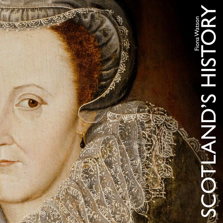 Mary Queen of Scots on the font cover of a book called Scotland's History
