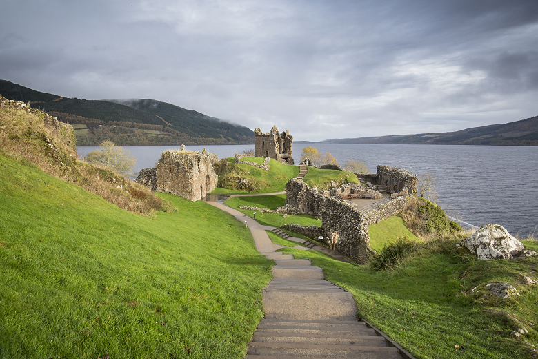 A view across Urquhart Castle and Loch Ness