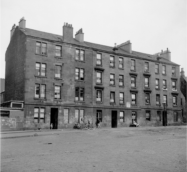 A simple, low cost tenement. Urban housing in Scotland.