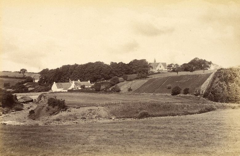 Early photograph of a rural Scottish village