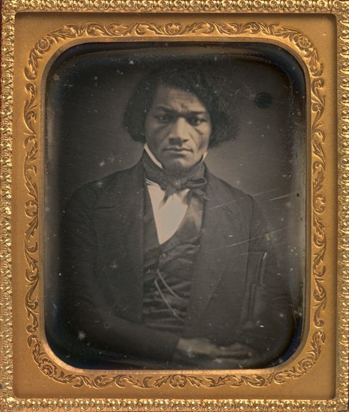 A photograph of Frederick Douglass