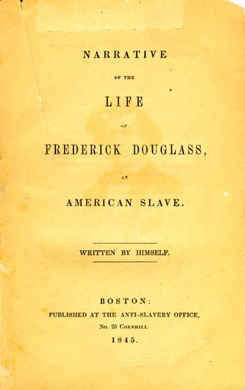 The simplistic cover of Frederick Douglass' autobiography