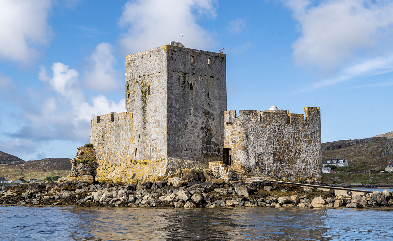 The formidable walls of an island castle