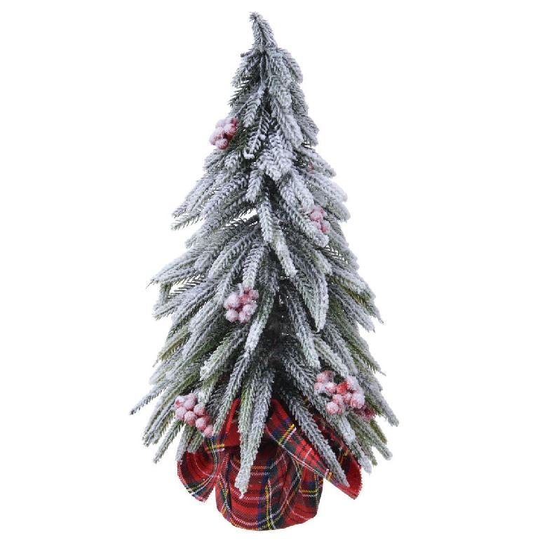 snowy pine tree decoration