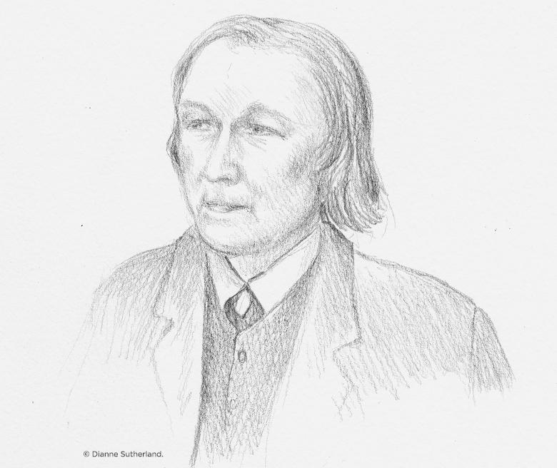 pencil portrait of William McGonagall
