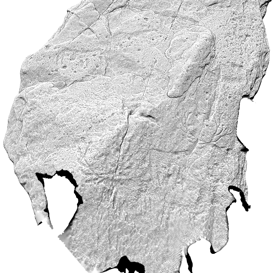A digitised 3d image showing the carvings