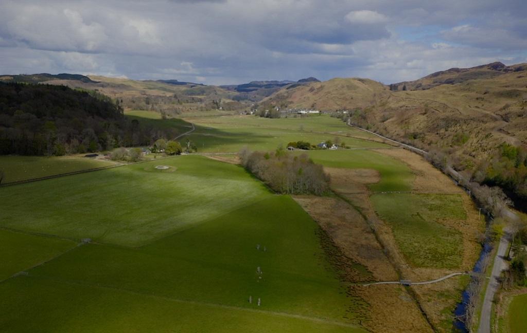 aerial view of the Kilmartin Glen landscape