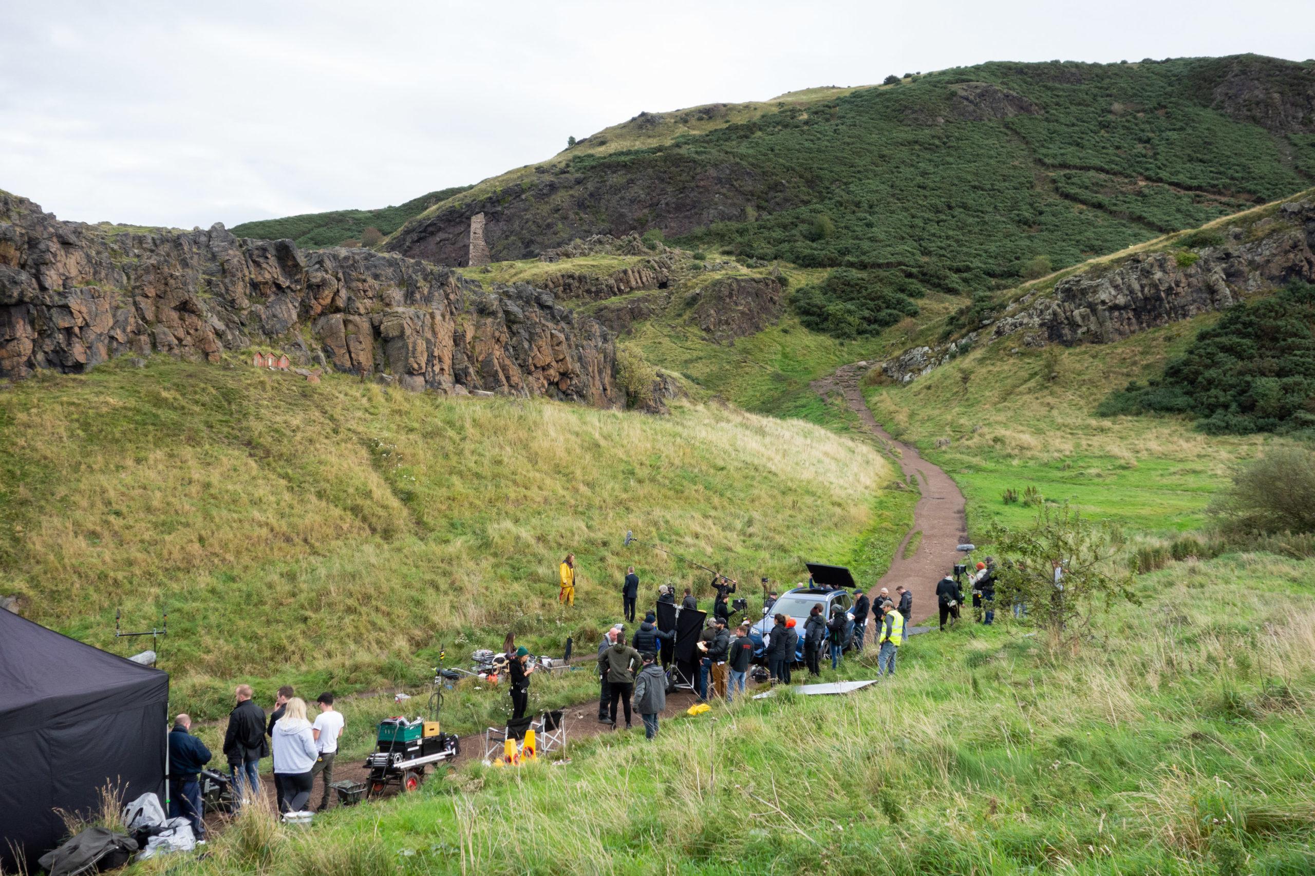 crowd of people on a hillside