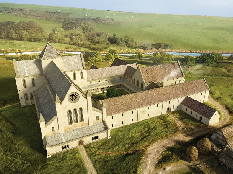 Digital reconstruction of the medieval abbey.